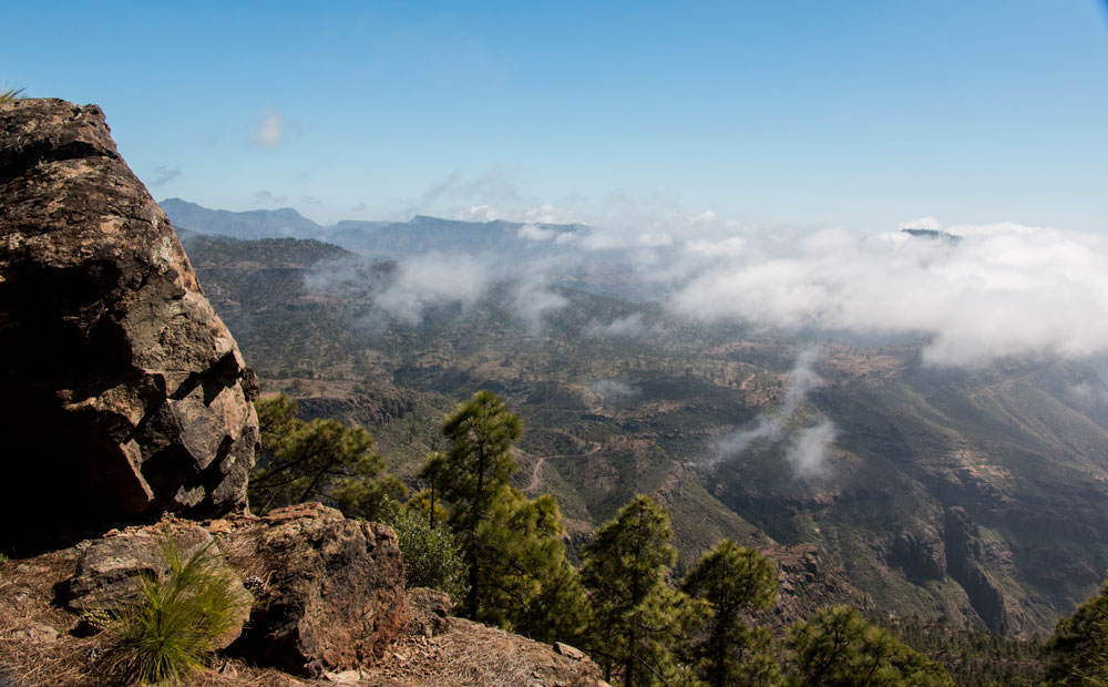 view from the Degollada de las brujas to the south part of Gran Canaria