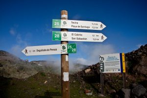 signpost to Playa el Cabrito