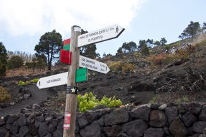 signposted hiking routes