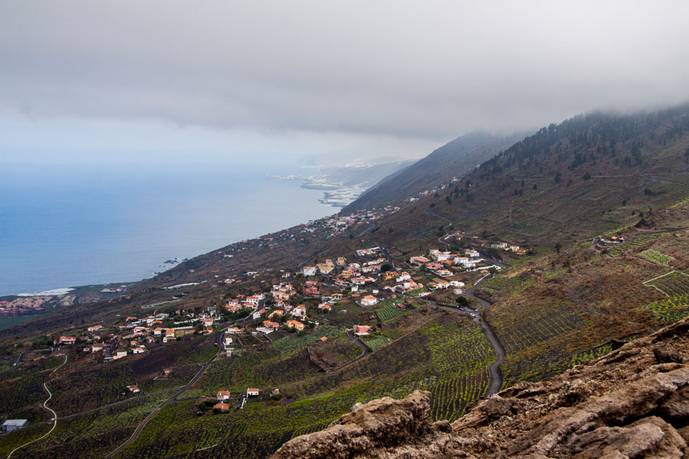 View from the hight to the west cost of La Palma