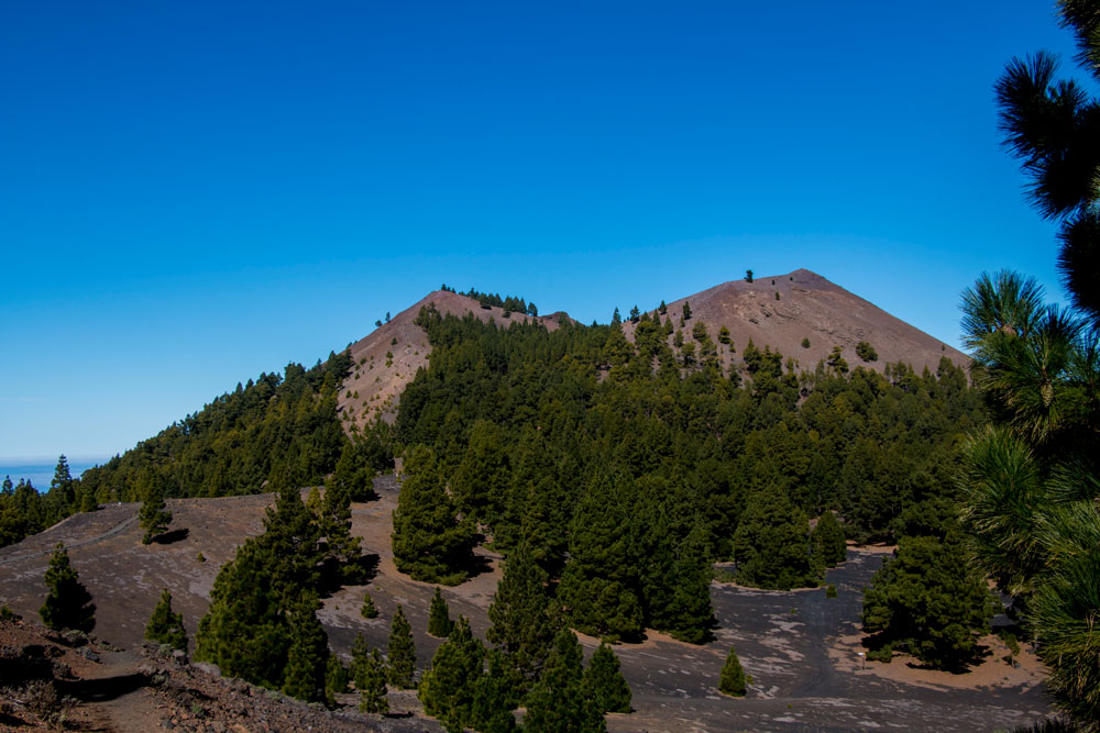 many volcanoes along the hiking path
