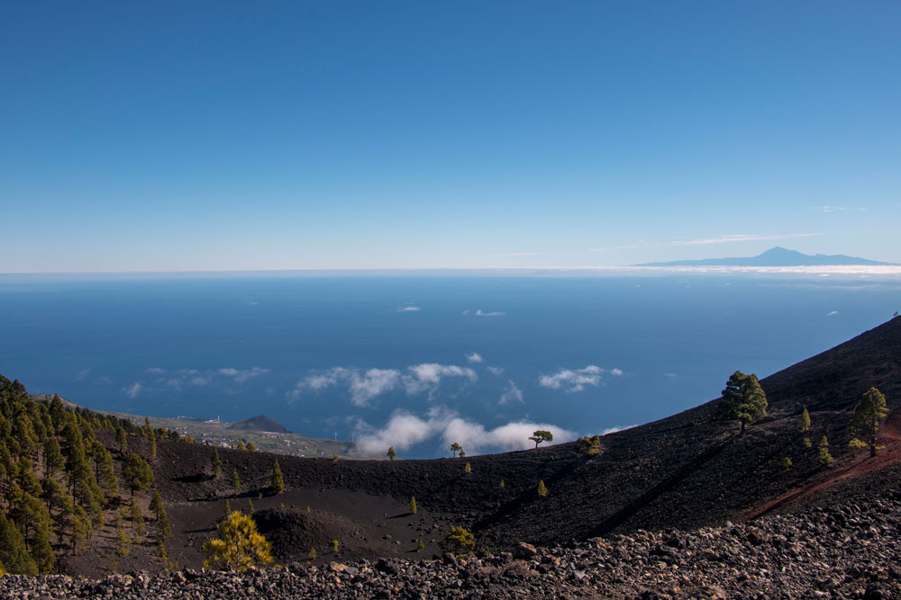 view from the top on Tenerife and Teide