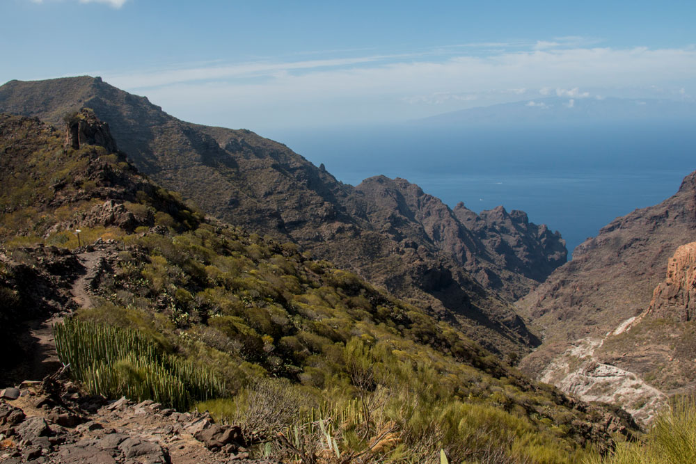view from the Degollada del Roque in the Barranco Seco