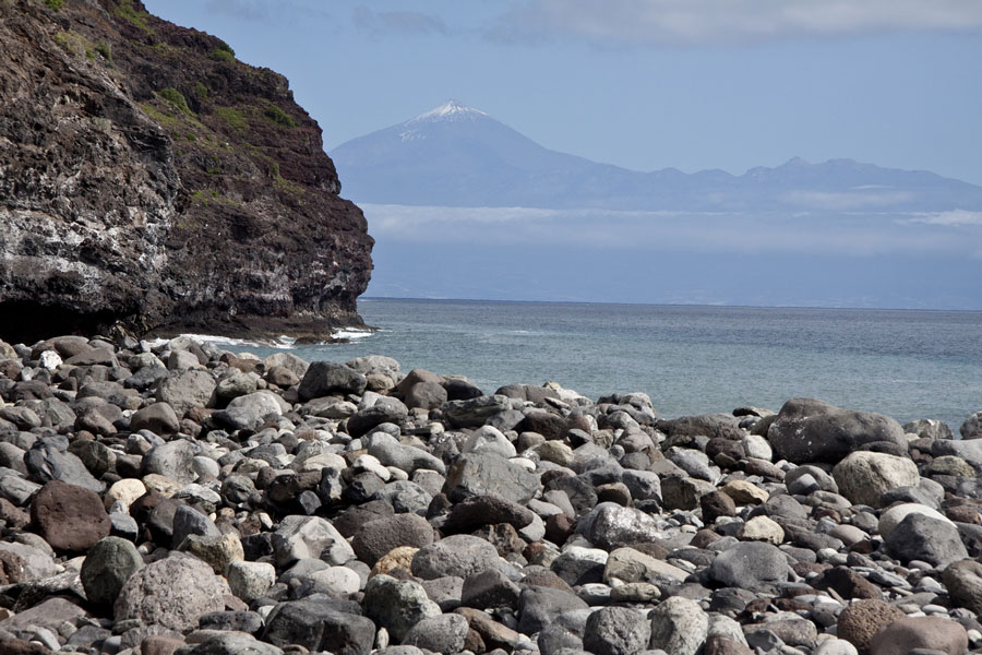 Playa el Cabrito with view to Tenerife and Teide