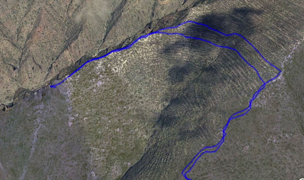 Track:two ways to cross the level between the ridges