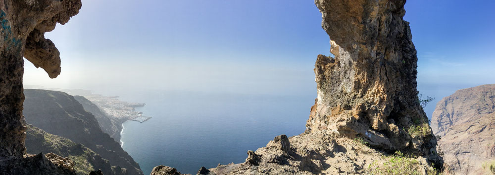 Panorama view from the rock gate El Bujero