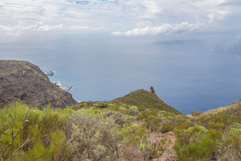view on the single rock and the south cost of Tenerife