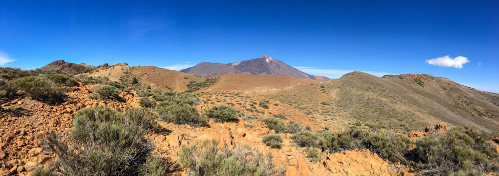 Panorama view - plateau with Teide in view