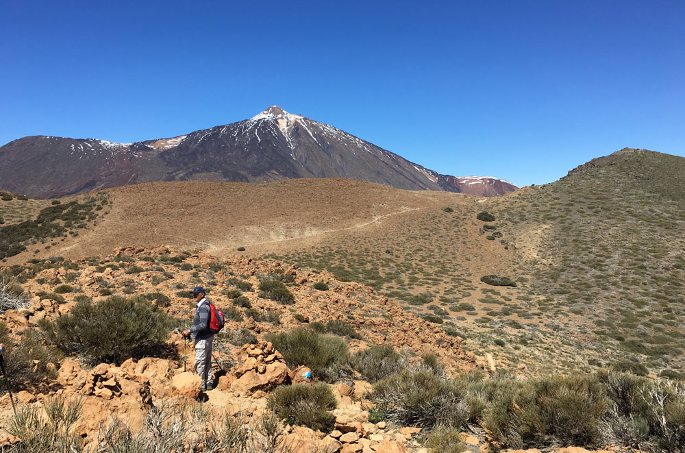View from the plateau of Sombrero de Chasna direction Teide