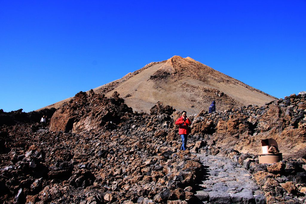 Teide - way on the top