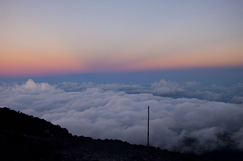 Teide sunrise with clouds