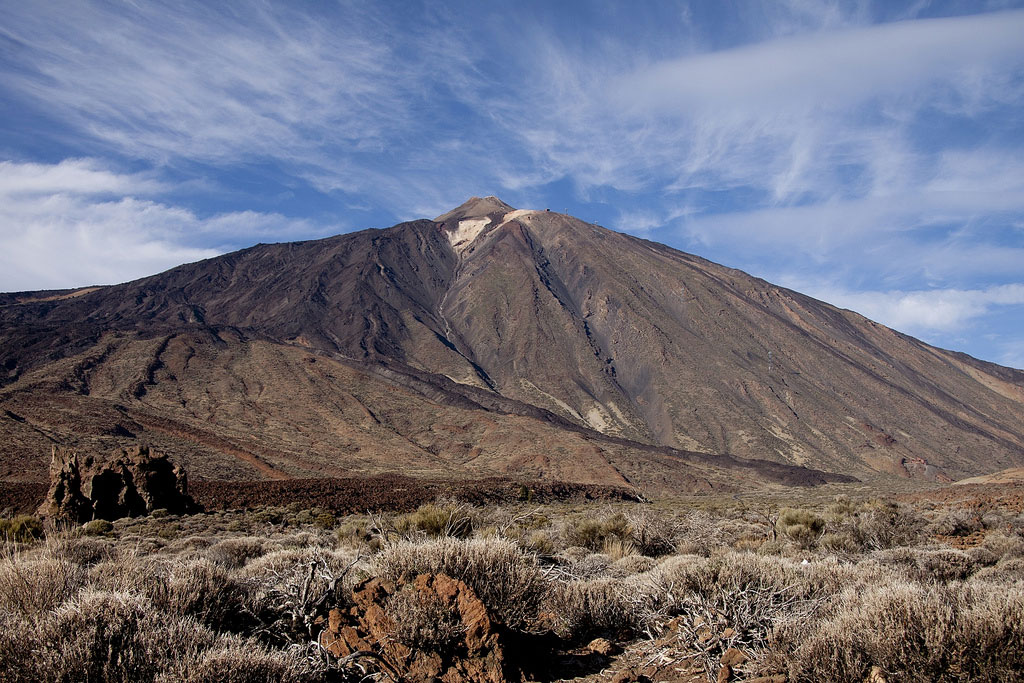 view on the Teide