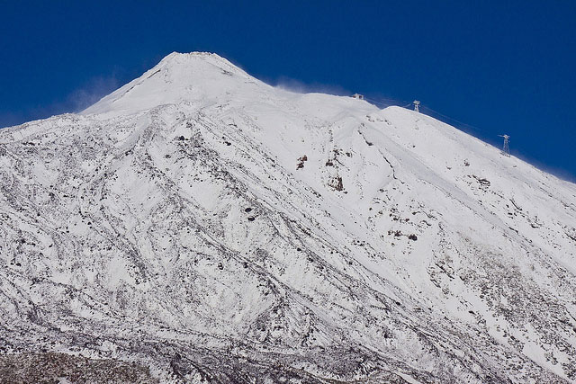 Teide covered with snow
