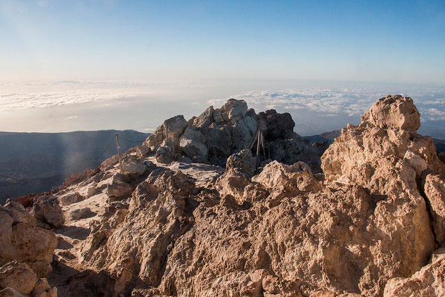 View from the top of Teide