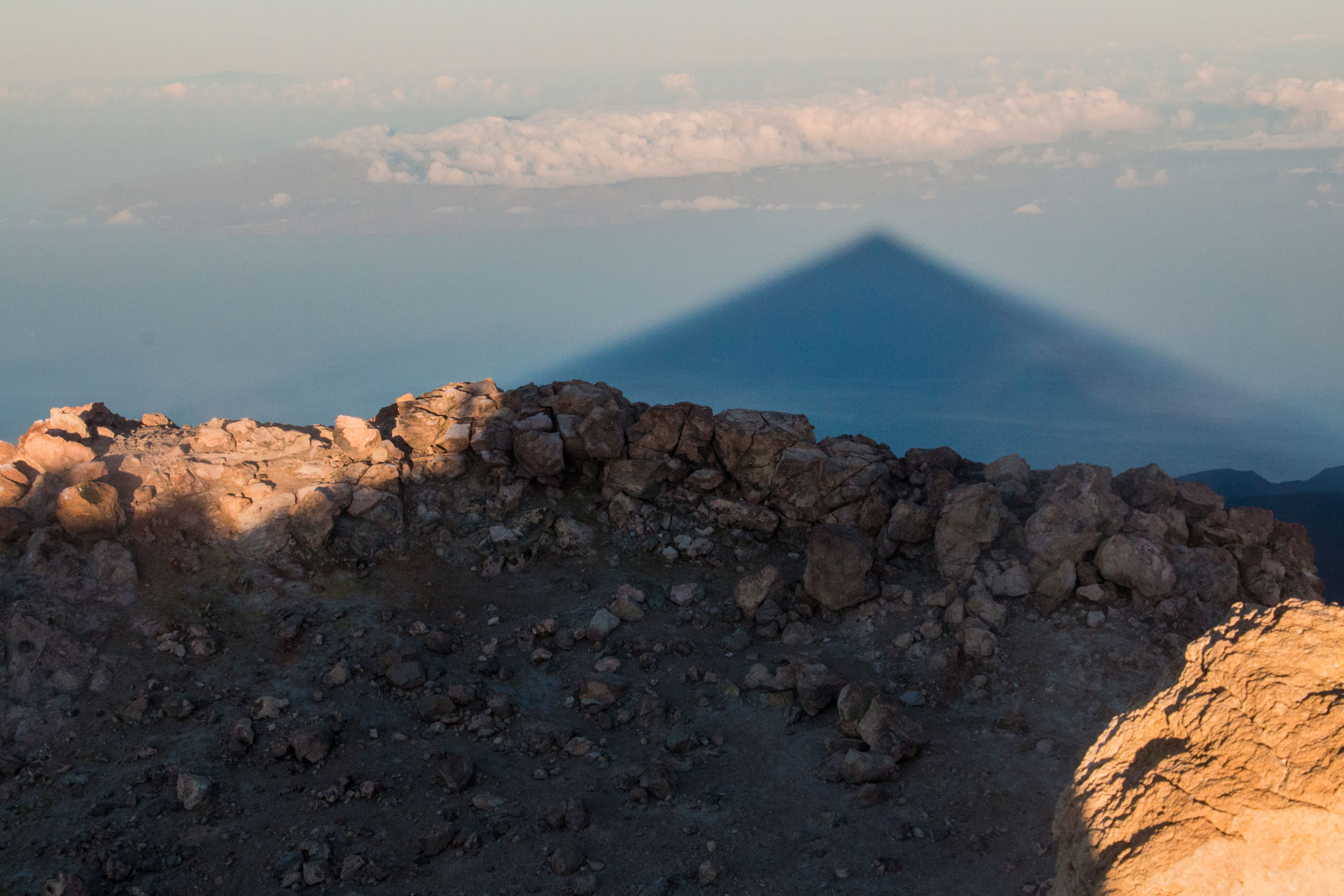 shadow of Teide in the morning