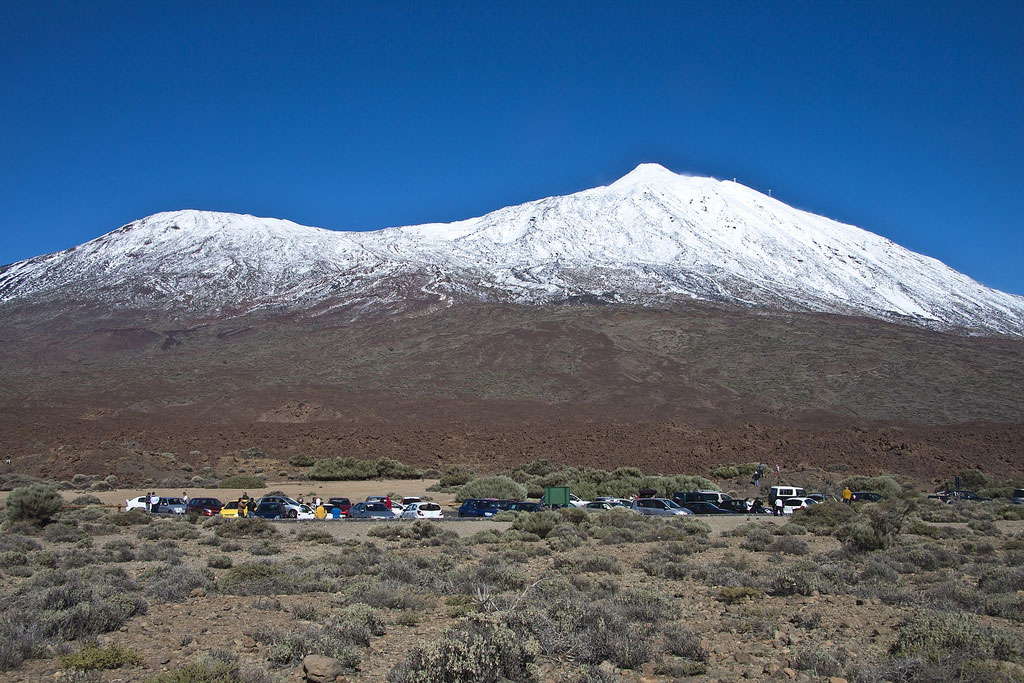 Teide in snow