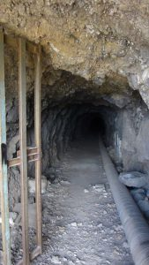 the entrance to the first tunnel