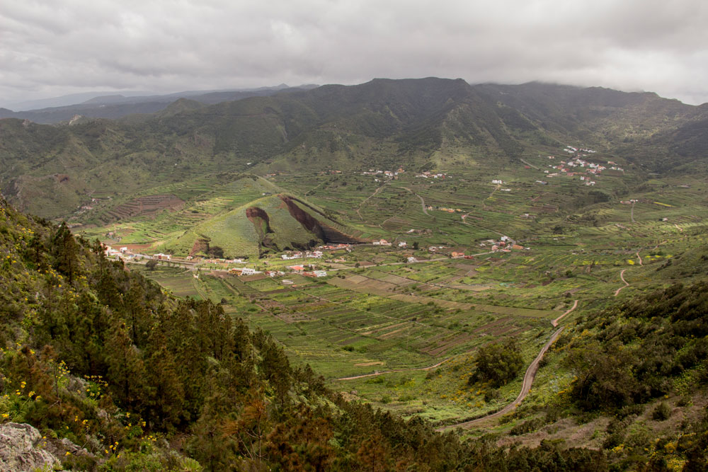 View from the height of the mining areas near Las Portelas