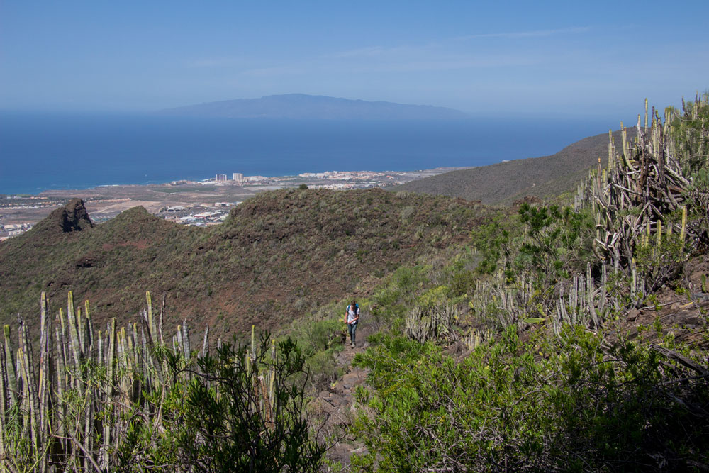 hiking trail - in the background La Gomera