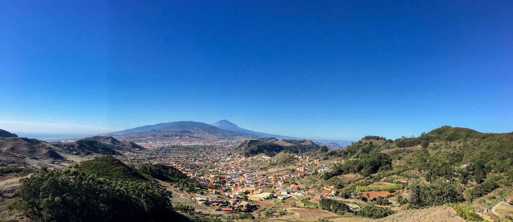 Anaga: view from the mirador to La Laguna and Teide