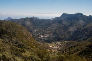 View over Chamorga with Gran Canaria in the background