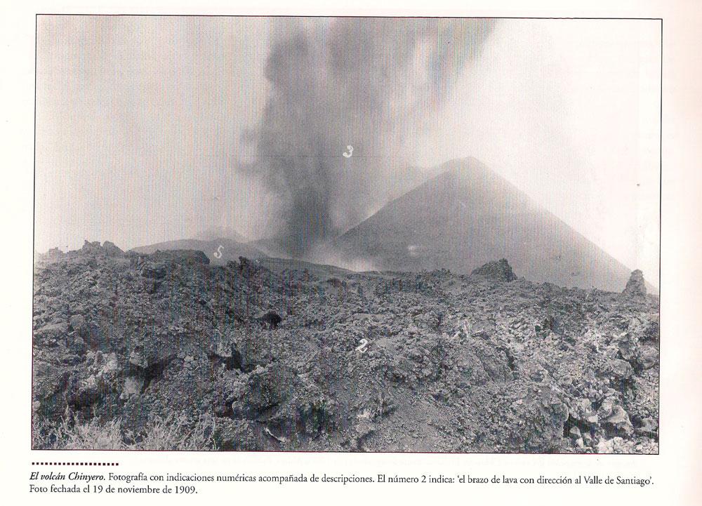 Historic picture from Ulrich Ahlers from the eruption Chinyero 18.11.1909