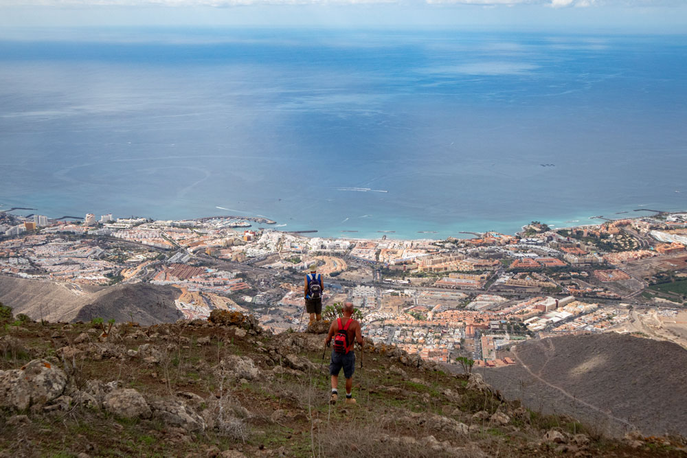 View to Los Christianos and Las Americas from the summit of Conde