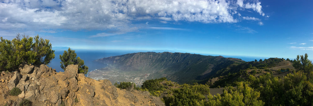 view from the Malpaso down to the El Golfo valley