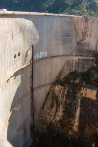 dam wall from Soria