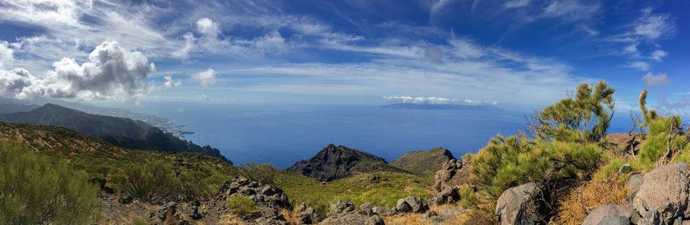 Panorama Guergues Steig with La Gomera
