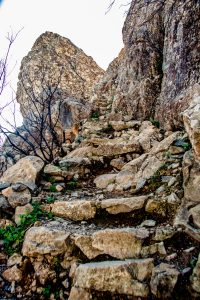 Fortaleza ascent on stone stairs