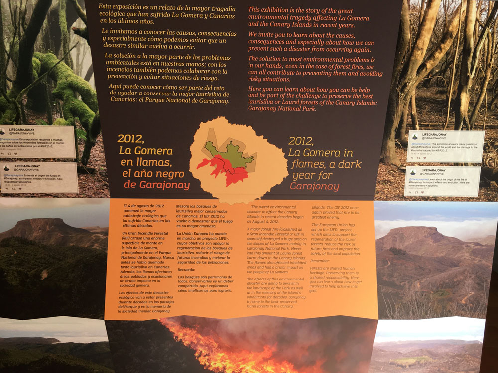 Information Board in the visitor centre of Juego de Bolas