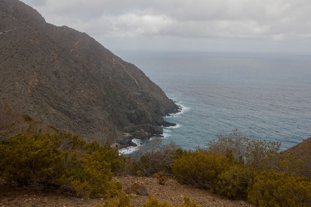 View from the steep coast on the Atlantik