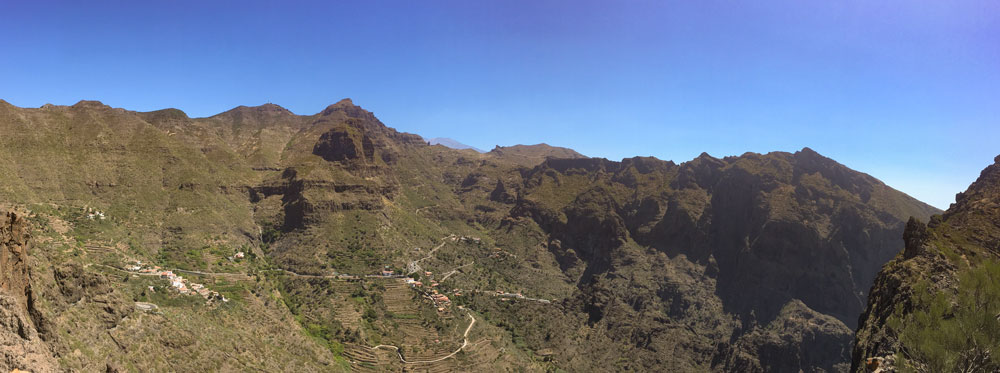 view over Masca and the Barranco de Masca