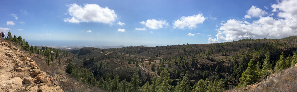 Panorama - view from the hight to the southeast coast of Tenerife