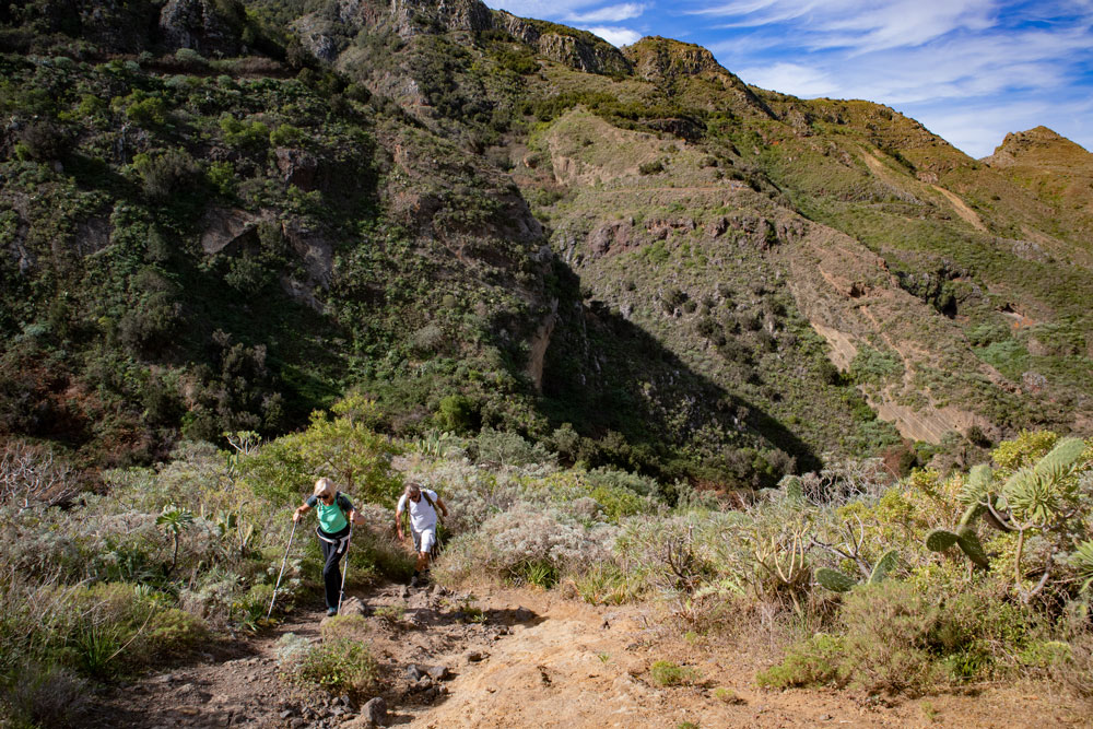 hikers in the Barranco Seco
