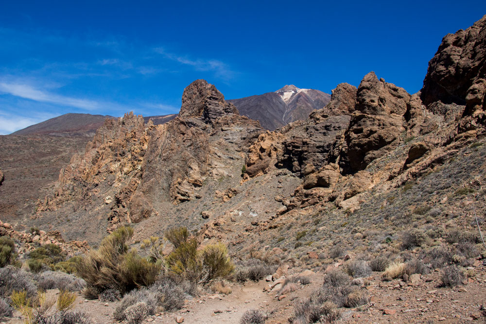 The rock massiv with Teide in the background