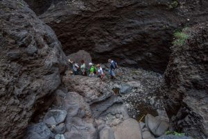 fellow hikers in the Barranco of Masca, Tenerife