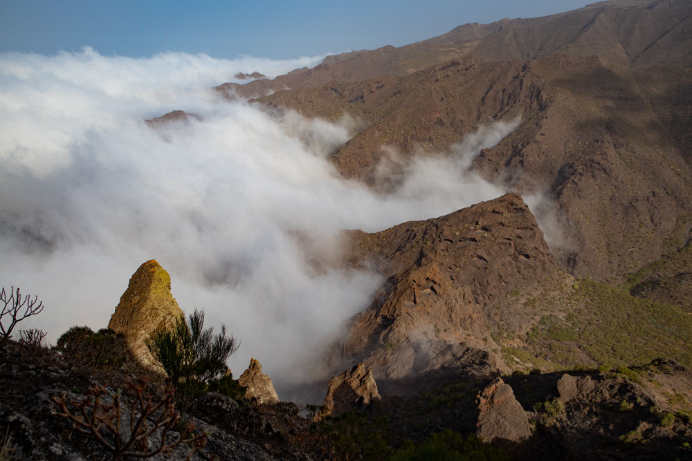 clouds over the Barranco of Los Carrizales