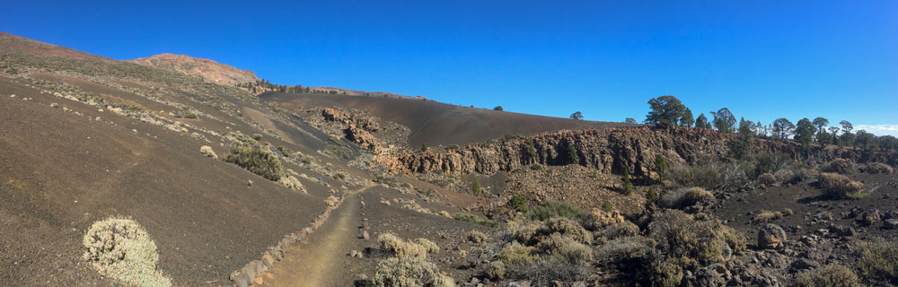 Panorama - hiking path in the Barranco de las Arenas