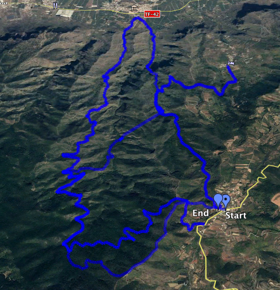 variant tracks around Erjos and the tunnel