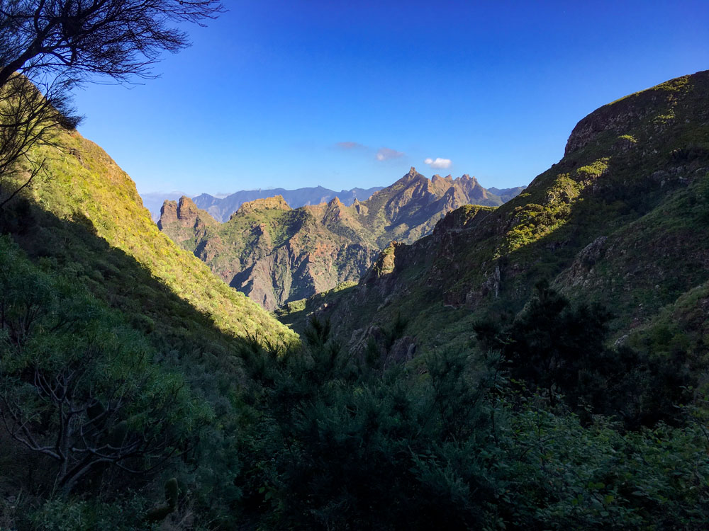 view from the hiking trail back to the Barranco of Tamadite