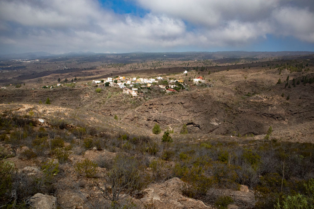View on El Jaral from the hight