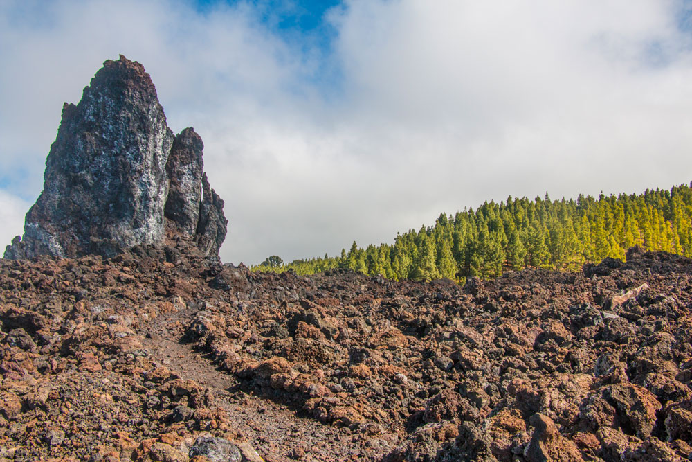 Big rock in the lava field