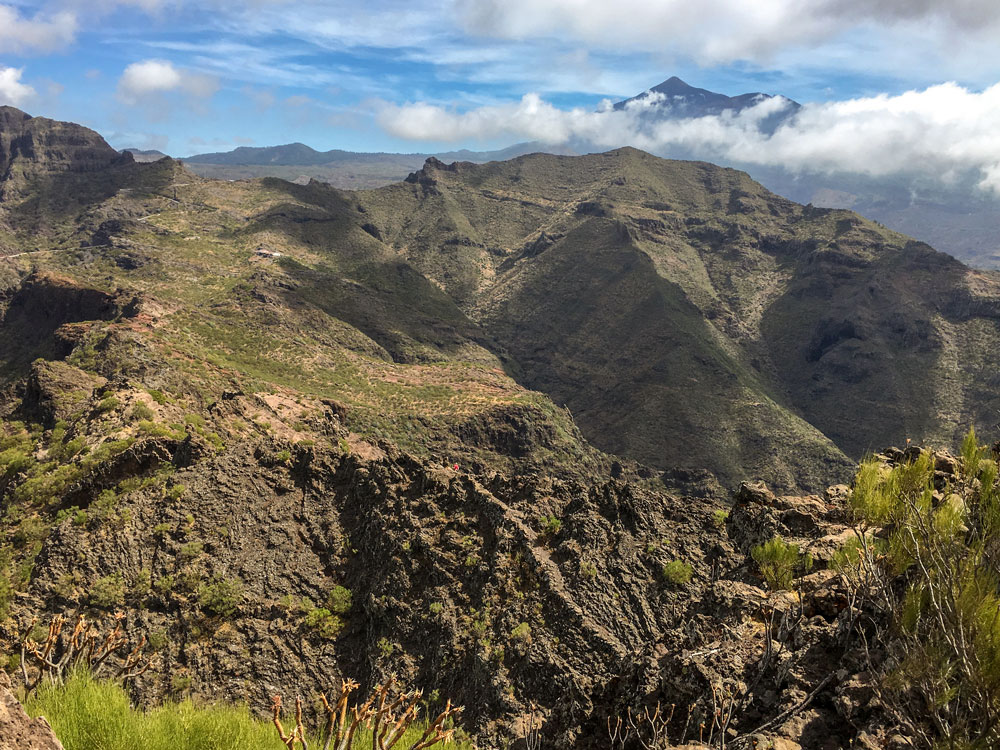View from the Guergues Steig to Mount Teide