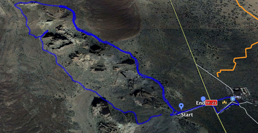 Track around the Roques de García with Parador