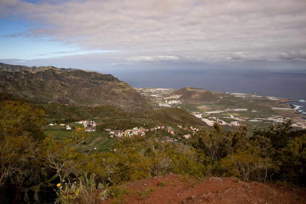 View from the ridge to the north coast of Tenerife