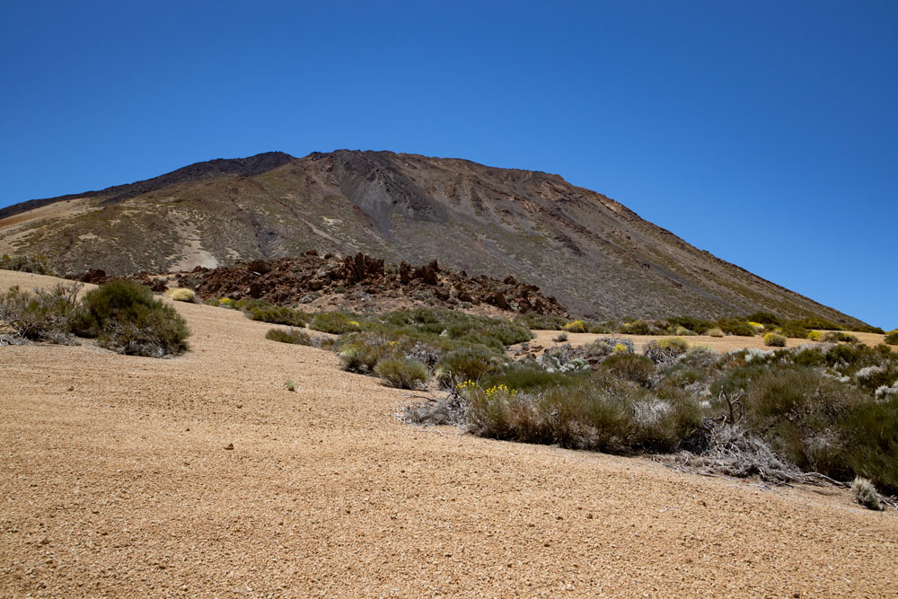 view to the backside of Mount Teide