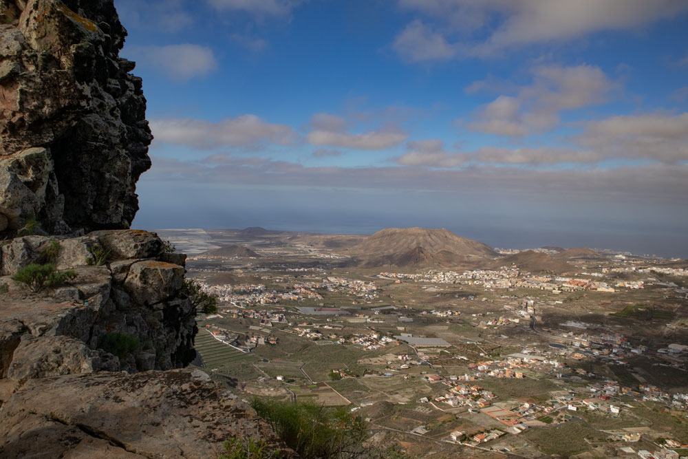view from Roque del Jama to the southeast coast of Tenerife