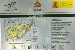 Hiking board Teide National Parc